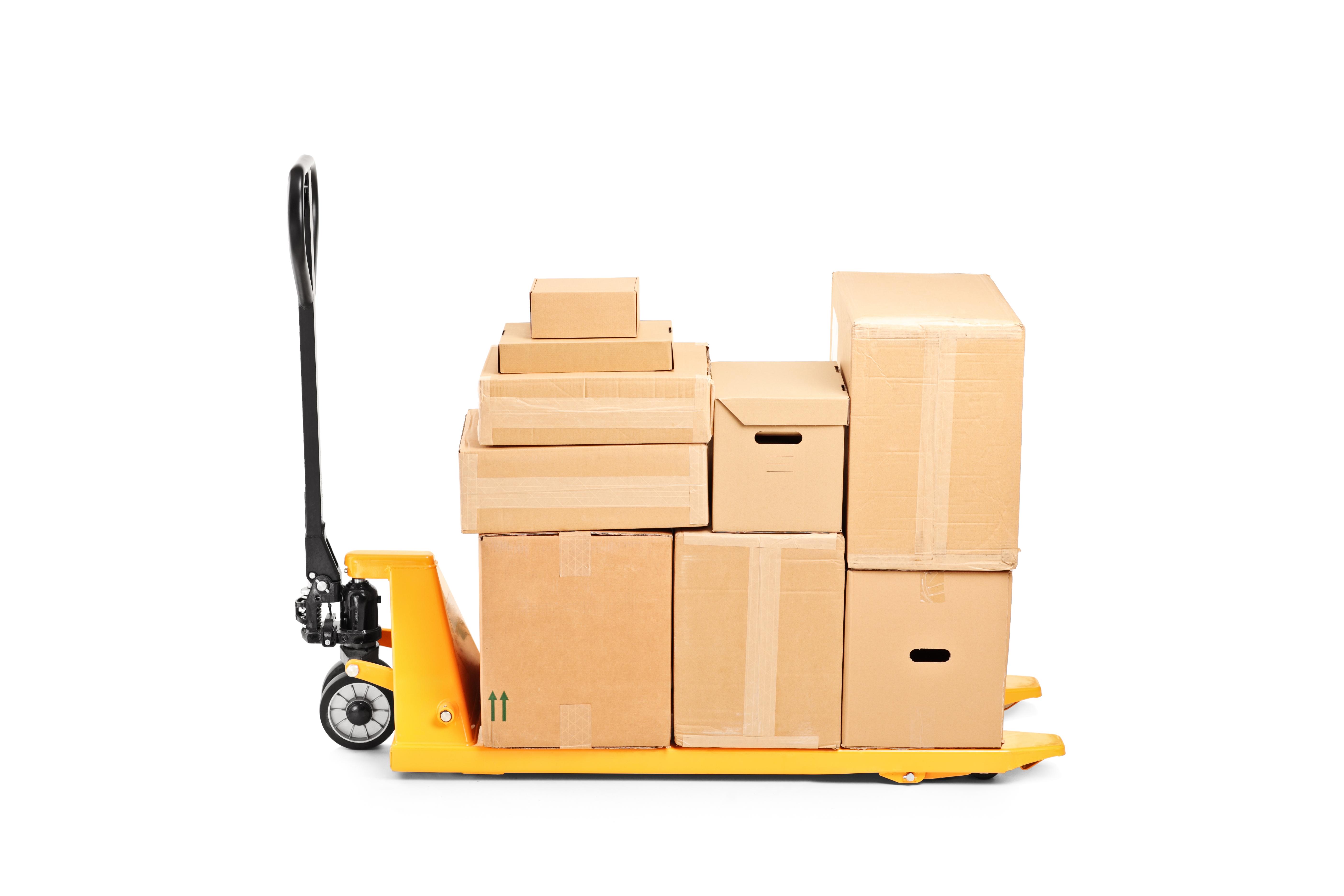 Pile de cartons de déménagements