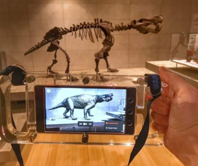 dinosaur skeleton and augmented reality