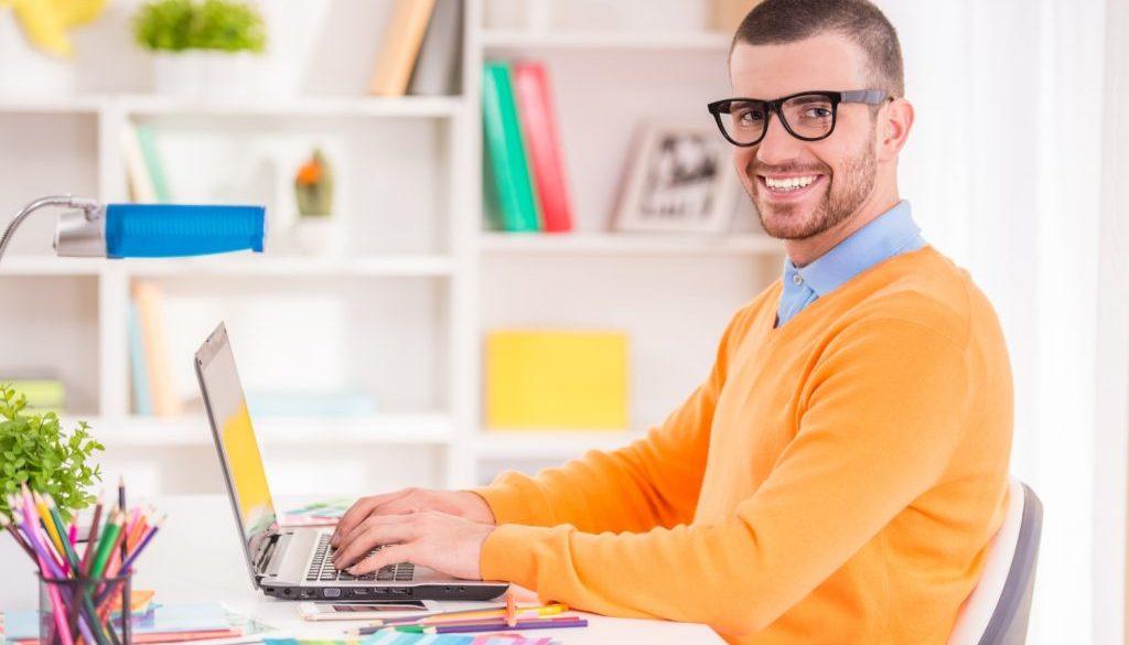 Male office work